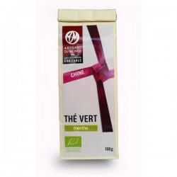 Thé vert biologique à la menthe - 100g