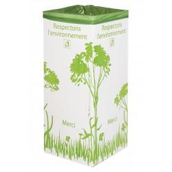 2 Poubelles en carton recyclé de 110 litres sans couvercles