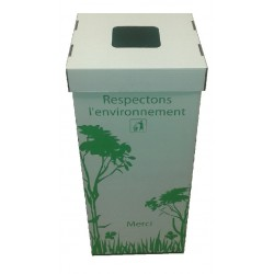 12 Poubelles en carton recyclé de 110 litres avec couvercles