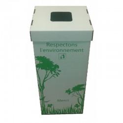 Pack 10 poubelles en carton recyclé de 110 litres avec couvercles (Martinique)