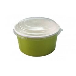 500 Couvercles ronds transparents en RPET pour saladiers 1000 ml