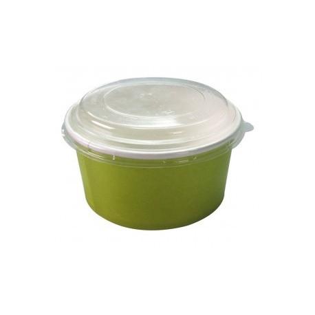 500 Couvercles ronds transparents en RPET pour pot à salades 1000 ml