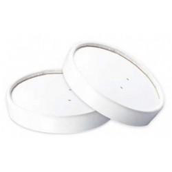 500 Couvercles ronds en carton blanc pour saladiers 1000 ml