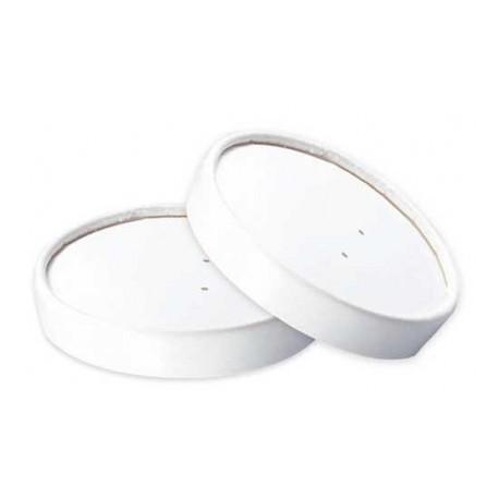 500 Couvercles ronds transparents en carton pour pot à salades 1000 ml