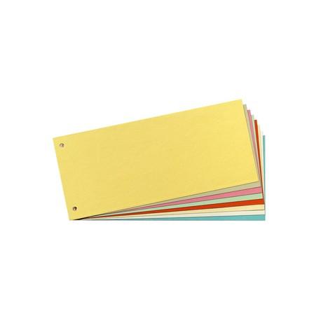 herlitz Intercalaires, pour format A4, en carte lustrée, Orange