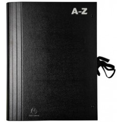 EXACOMPTA Trieur accordéon A-Z, pour format A4, noir