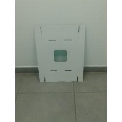 Couvercle pour poubelles vertes en carton de 110 litres