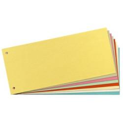 herlitz Intercalaires, pour format A4, en carton manille recyclé, Blanc