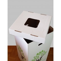 Couvercles pour poubelles vertes en carton de 110 litres