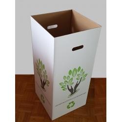 6 Poubelles en carton recyclé de 110 litres sans couvercles