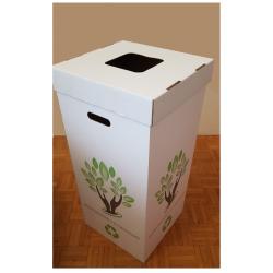 6 Poubelles en carton recyclé de 100 litres sans couvercles