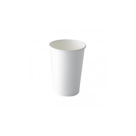 100 Gobelets en carton blanc 15 cl biodégradables