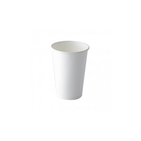 100 Gobelets en carton blanc 25 cl biodégradables
