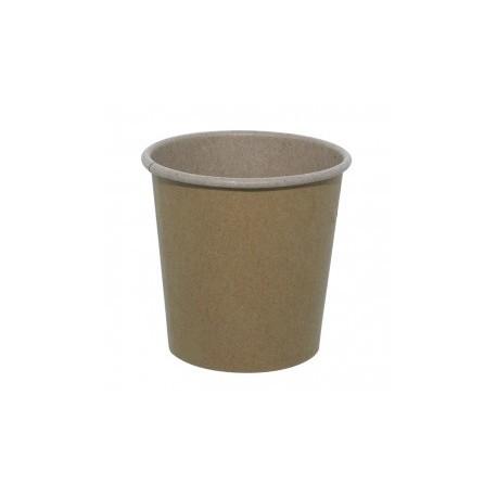 1000 Gobelets en carton brun naturel 10 cl