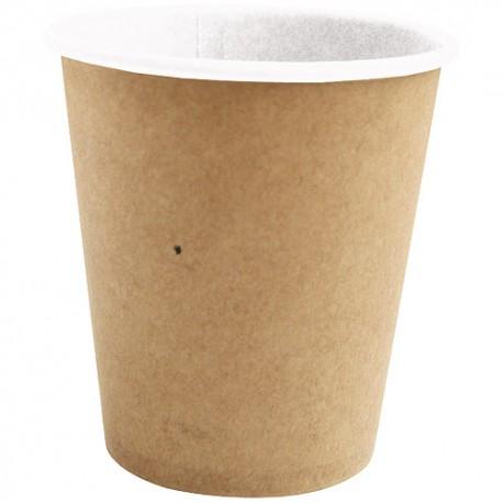 100 Gobelets en carton brun 100% biodégradables 10 cl