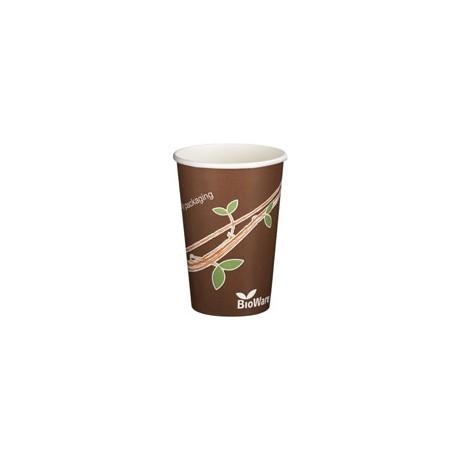 1000 Gobelets en carton 25 cl, Décor nature, 100% Biodégradables