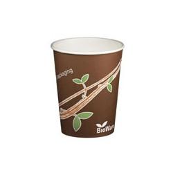1000 Gobelets en carton 20 cl, Décor nature, 100% Biodégradables