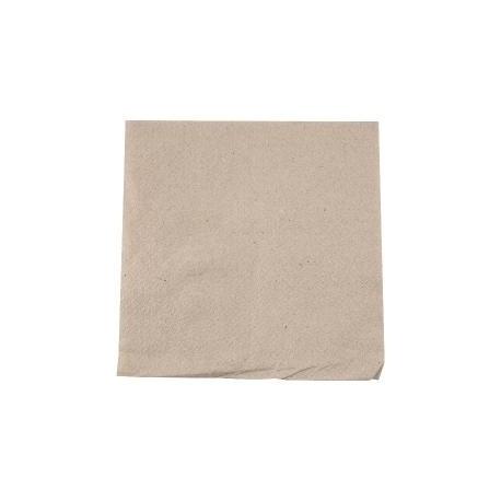 Serviette en papier recyclé couleur Kraft 30X30 cm