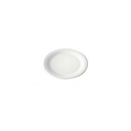 100 Assiettes en carton blanc 23 cm - biodégradables