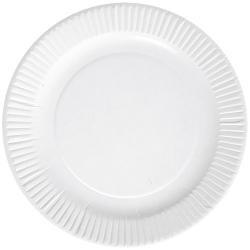 100 Assiettes en carton blanc 18 cm - biodégradables